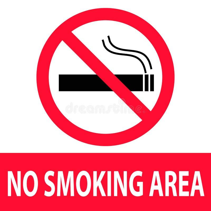 Значок для некурящих области на белой предпосылке Плоский стиль мертвое для некурящих бесплатная иллюстрация