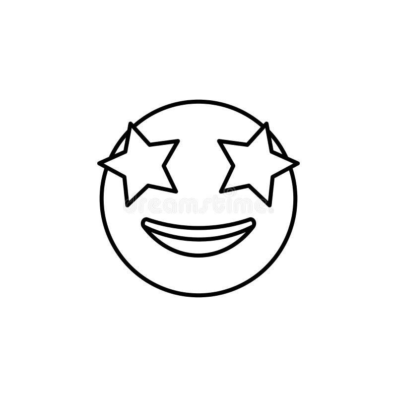 значок дня звезды Детальный комплект воплощений значков профессий Наградная качественная линия графический дизайн Один из значков иллюстрация вектора