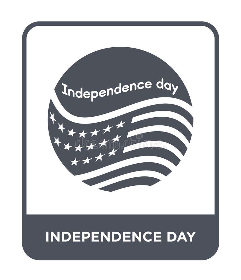 значок Дня независимости в ультрамодном стиле дизайна значок Дня независимости изолированный на белой предпосылке значок вектора  бесплатная иллюстрация