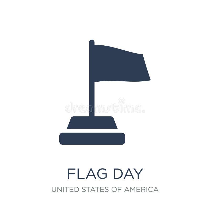 значок Дня флага Ультрамодный плоский значок Дня флага вектора на белом backgro иллюстрация штока