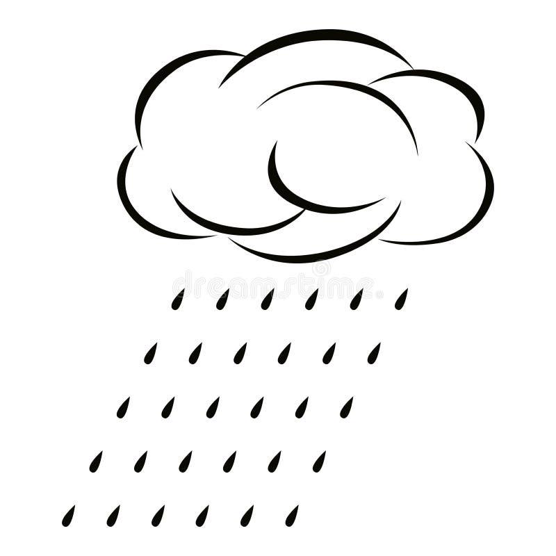 Значок дождя линейный стоковое фото rf