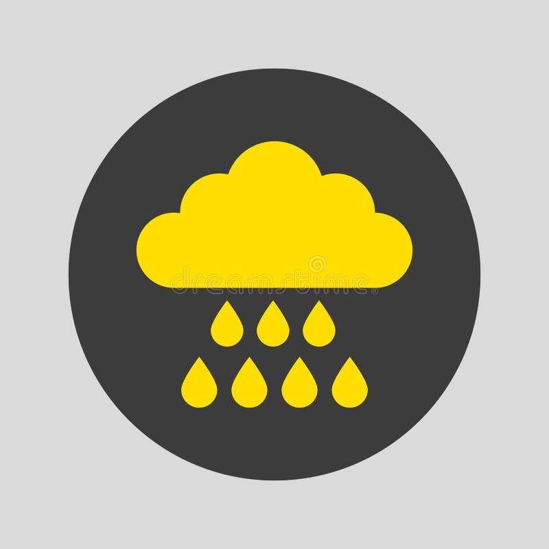 Значок дождя на серой предпосылке иллюстрация вектора