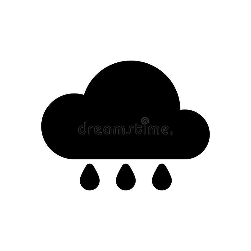Значок дождя погоды простой иллюстрация штока