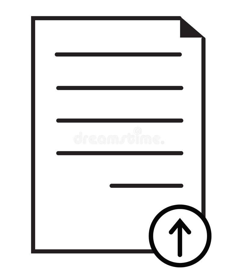Значок документа загрузки на белой предпосылке Плоский стиль значок документа для вашего дизайна вебсайта, логотип загрузки, прил иллюстрация вектора