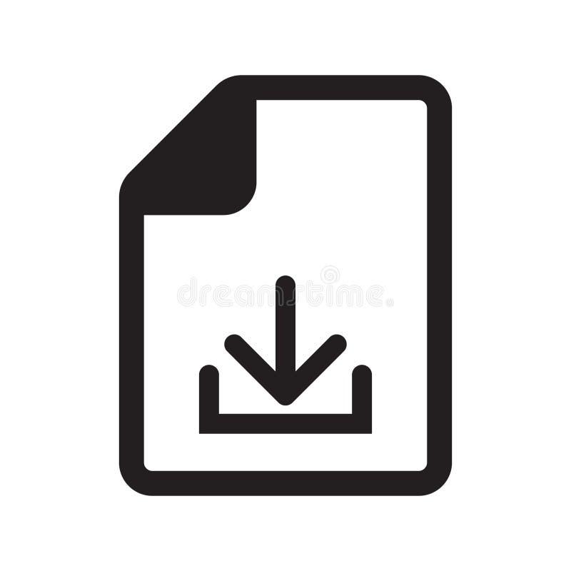 Значок документа загрузки бесплатная иллюстрация