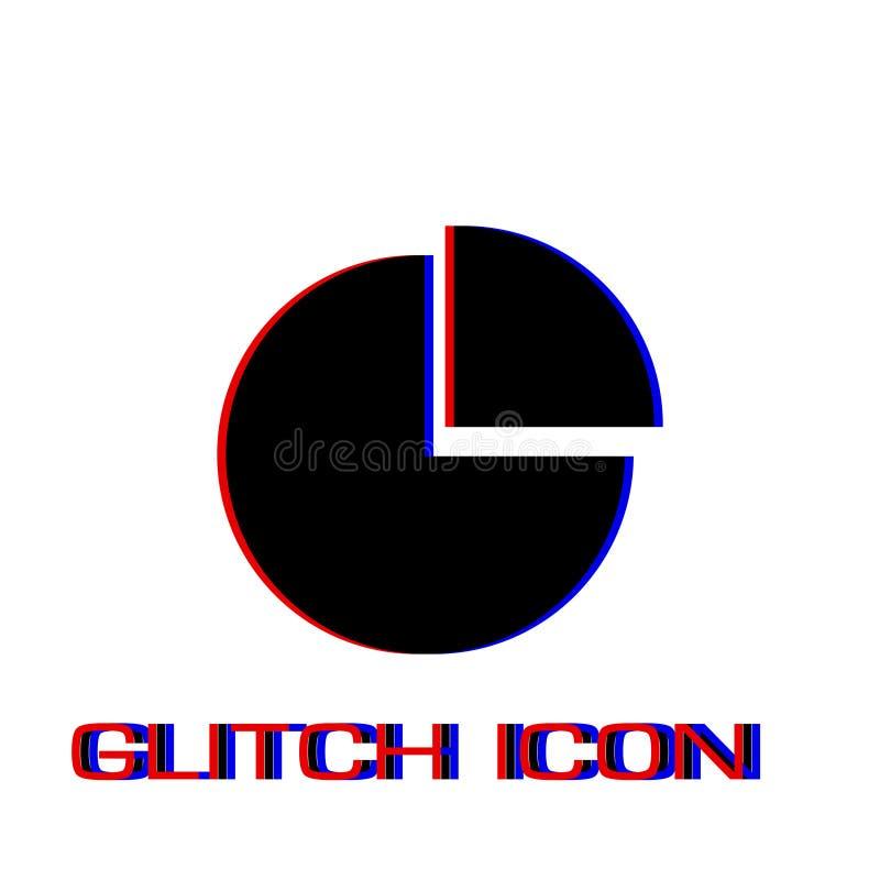 Значок долевой диограммы плоско бесплатная иллюстрация