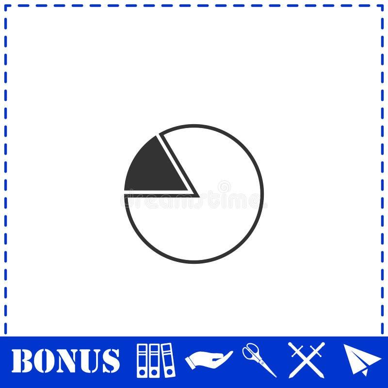 Значок долевой диограммы плоско иллюстрация штока