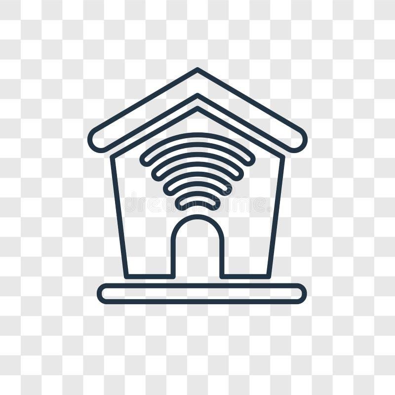Значок домашнего вектора концепции линейный изолированный на прозрачном backgrou иллюстрация вектора