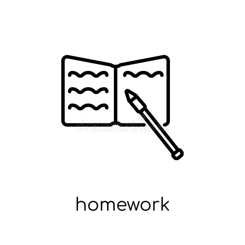 значок домашней работы  иллюстрация штока