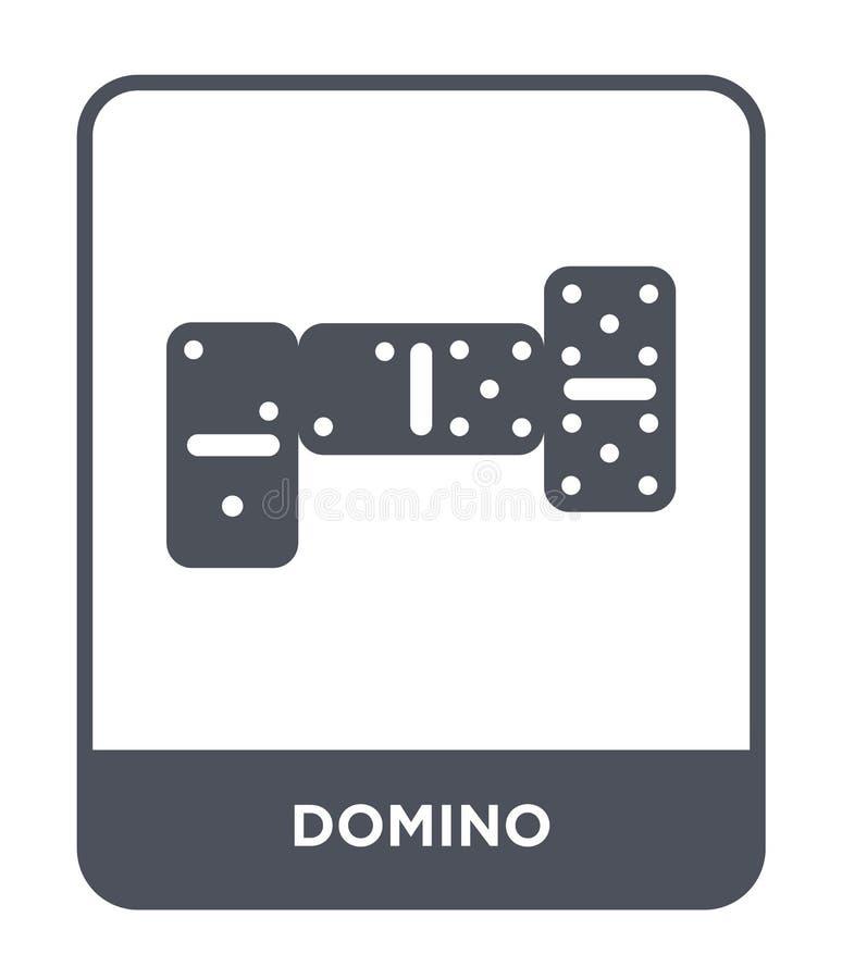 значок домино в ультрамодном стиле дизайна значок домино изолированный на белой предпосылке символ значка вектора домино простой  бесплатная иллюстрация
