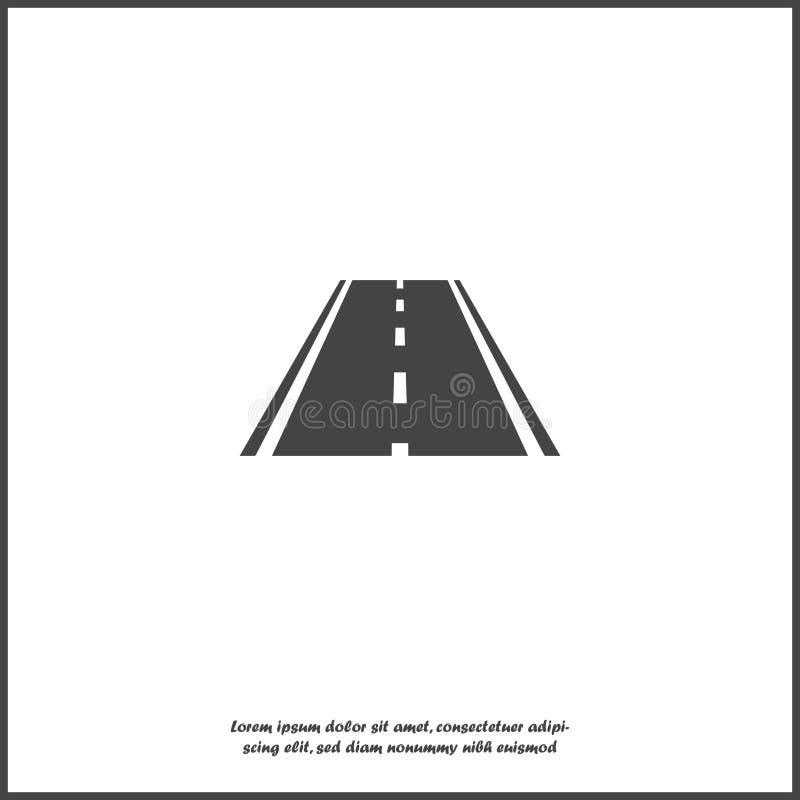 Значок дороги вектора на белой изолированной предпосылке Слои собранные для легкой редактируя иллюстрации иллюстрация штока