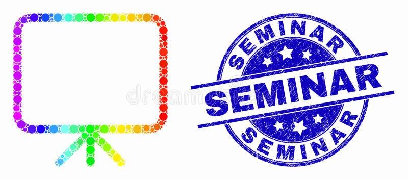 Значок доски знамени Pixelated вектора спектральные и печать семинара дистресса иллюстрация вектора