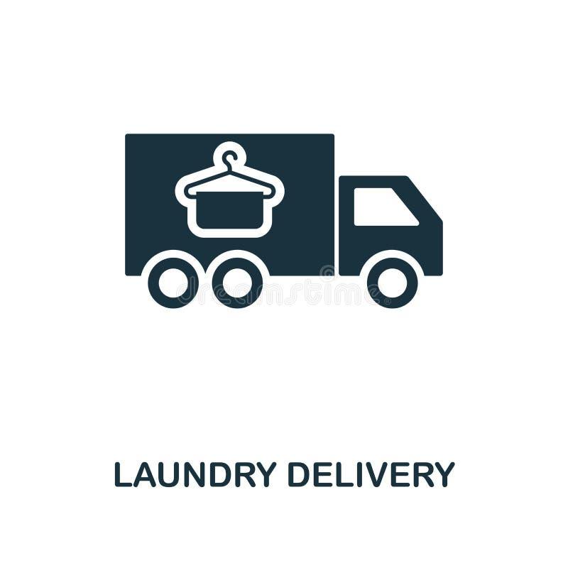 Значок доставки прачечной Линия дизайн значка стиля от очищая собрания значка Ui Иллюстрация значка доставки прачечной pictogram иллюстрация штока