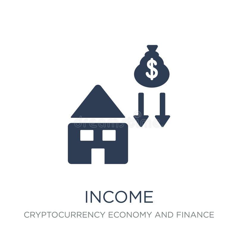 Значок дохода Ультрамодный плоский значок дохода вектора на белой предпосылке бесплатная иллюстрация