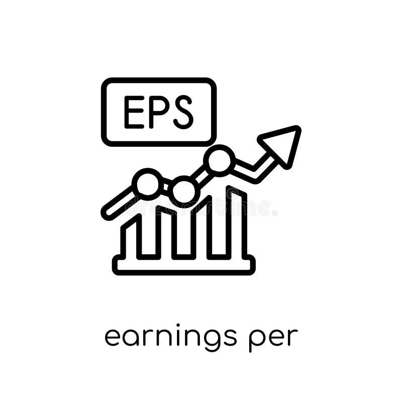 Значок доходов с акции (EPS) от coll доходов с акции (EPS) бесплатная иллюстрация