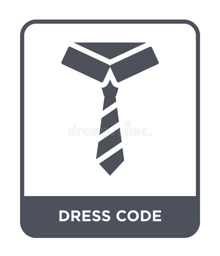 значок дресс-кода в ультрамодном стиле дизайна значок дресс-кода изолированный на белой предпосылке значок вектора дресс-кода про бесплатная иллюстрация