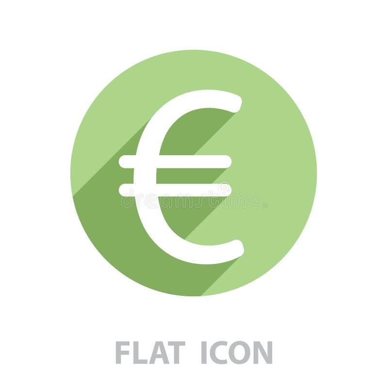 Значок евро плоский r бесплатная иллюстрация