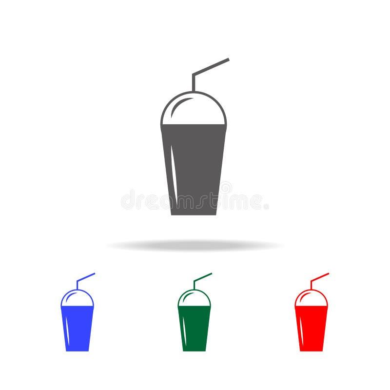 значок еды круга простой черный Элементы значков еды multi покрашенных Наградной качественный значок графического дизайна Простой иллюстрация вектора