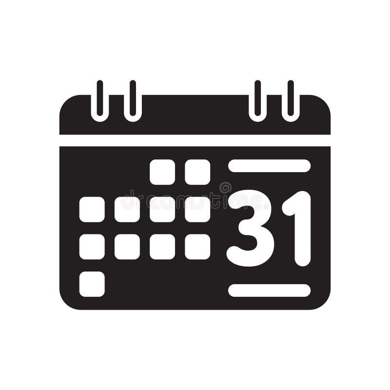 Значок еженедельного календаря изолированный на белой предпосылке иллюстрация вектора