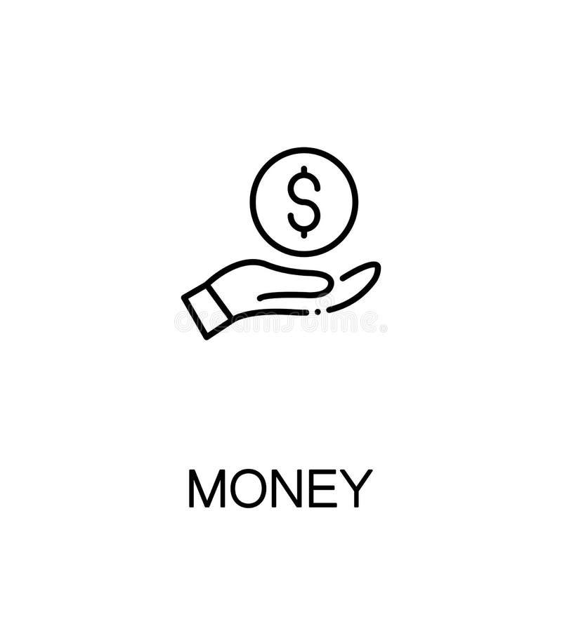 Значок денег плоский иллюстрация штока