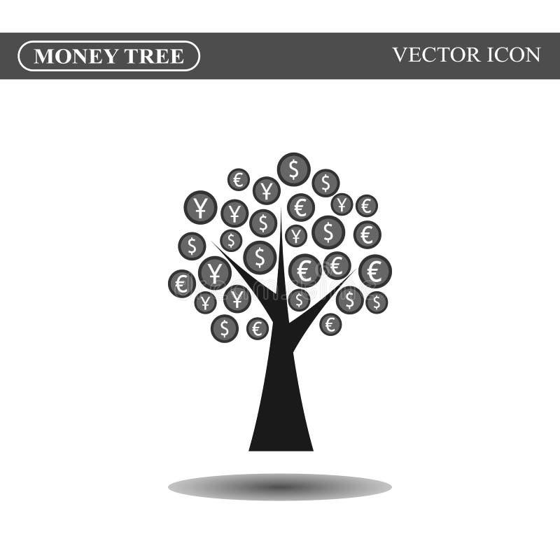 Значок дерева денег иллюстрация вектора
