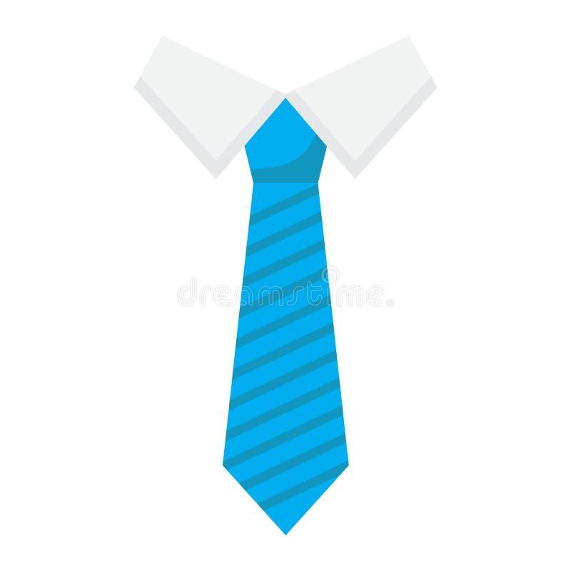 Значок, дело и галстук связи плоские иллюстрация штока