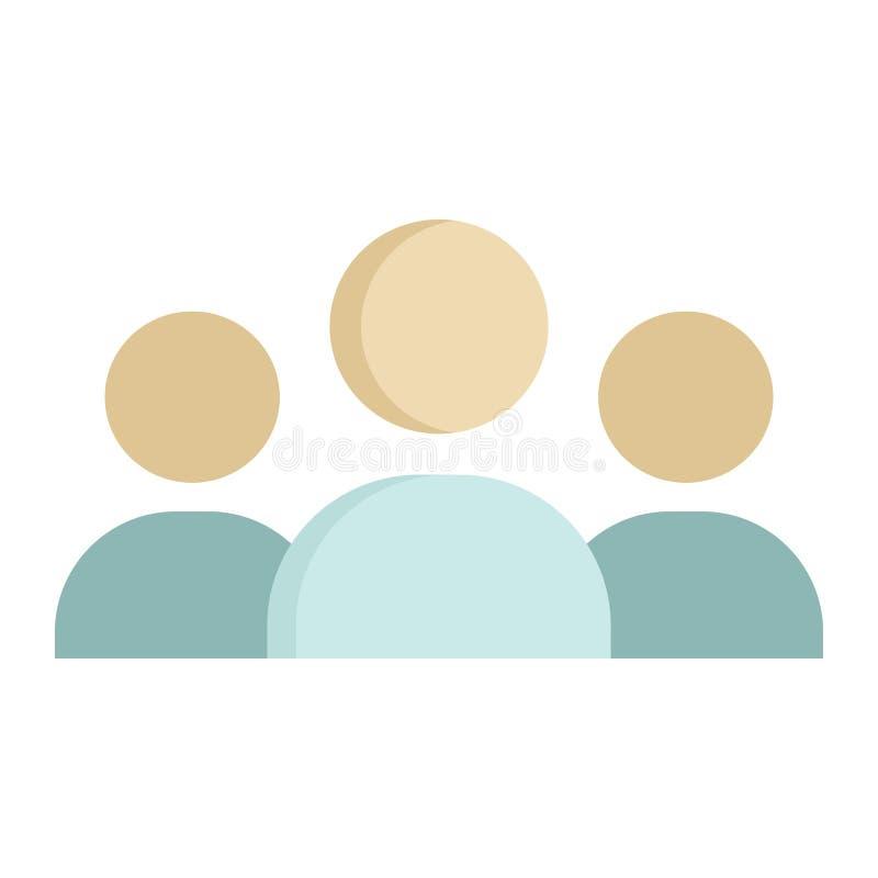 Значок, дело и группа команды плоские иллюстрация вектора