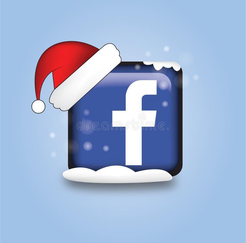 Значок женится facebook рождества стоковое изображение rf