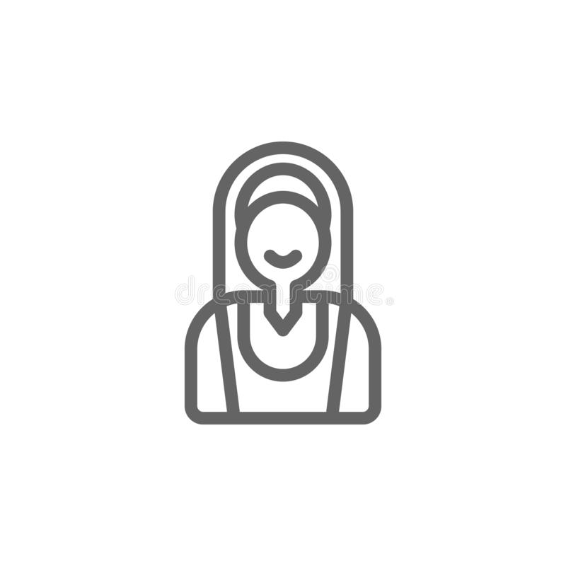Значок женщины Португалии Элемент значка Португалии E иллюстрация штока