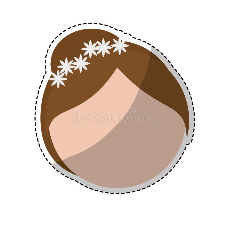 Download Значок женщины шаржа иллюстрация вектора. иллюстрации насчитывающей жизнерадостно - 81801725