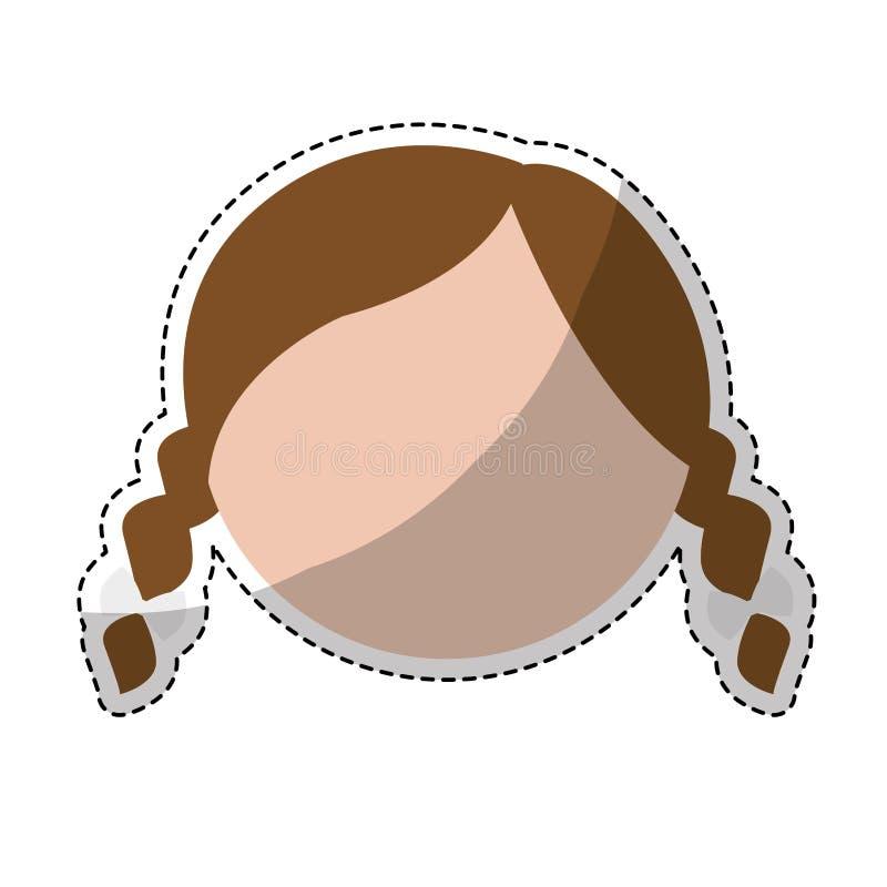 Download Значок женщины шаржа иллюстрация вектора. иллюстрации насчитывающей модель - 81801728