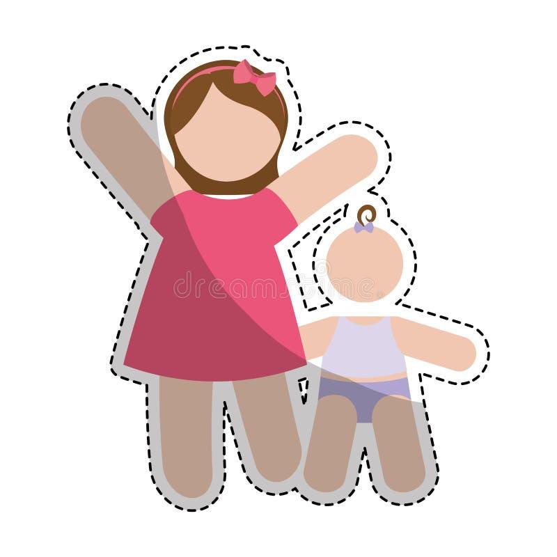 Download Значок женщины шаржа иллюстрация вектора. иллюстрации насчитывающей привлекательностей - 81801758