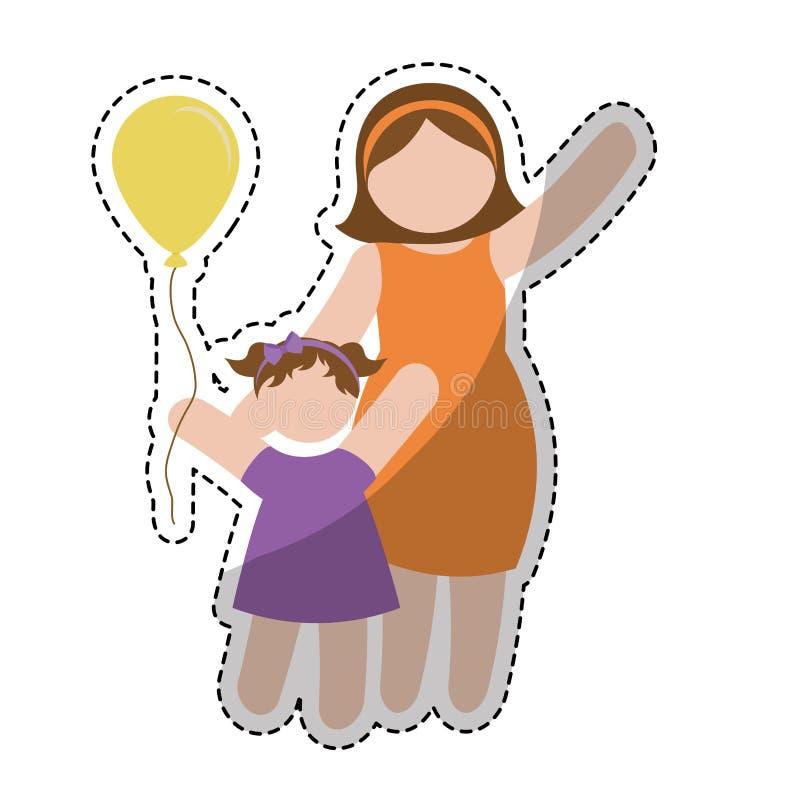 Download Значок женщины шаржа иллюстрация вектора. иллюстрации насчитывающей свеже - 81801788