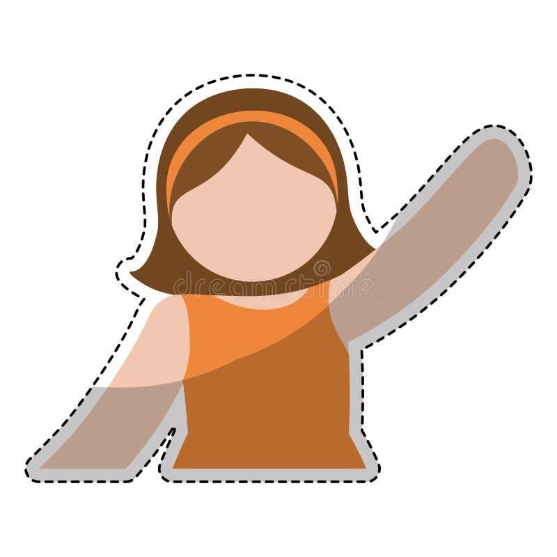 Download Значок женщины шаржа иллюстрация вектора. иллюстрации насчитывающей выражение - 81801795