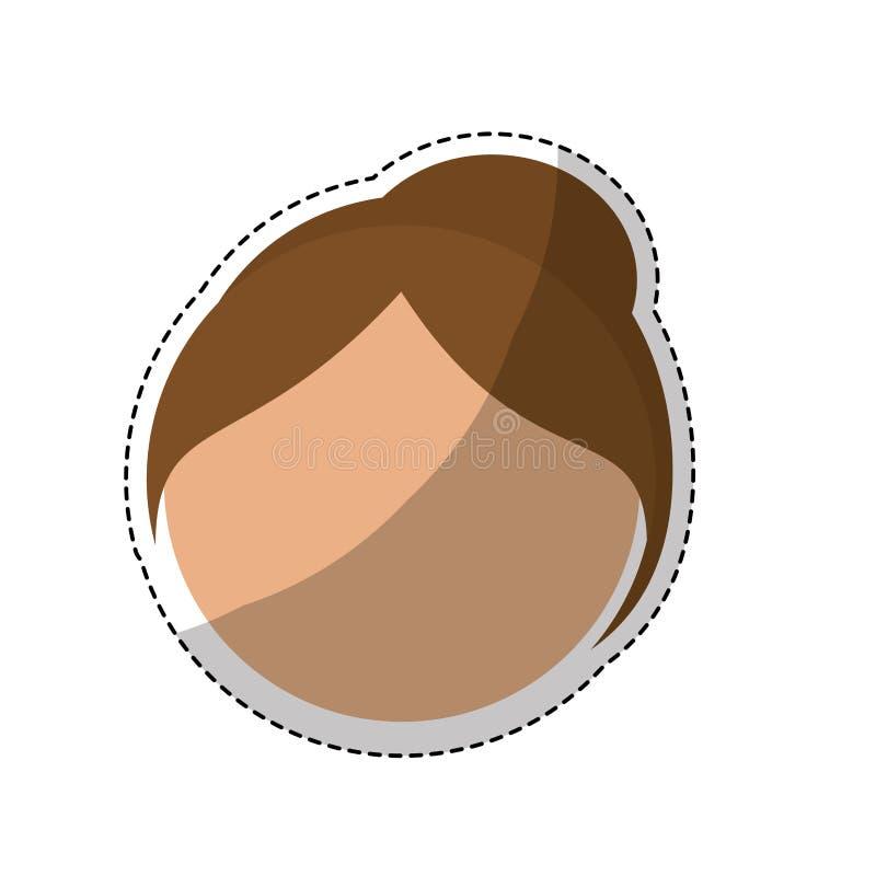 Download Значок женщины шаржа иллюстрация вектора. иллюстрации насчитывающей выражение - 81801899