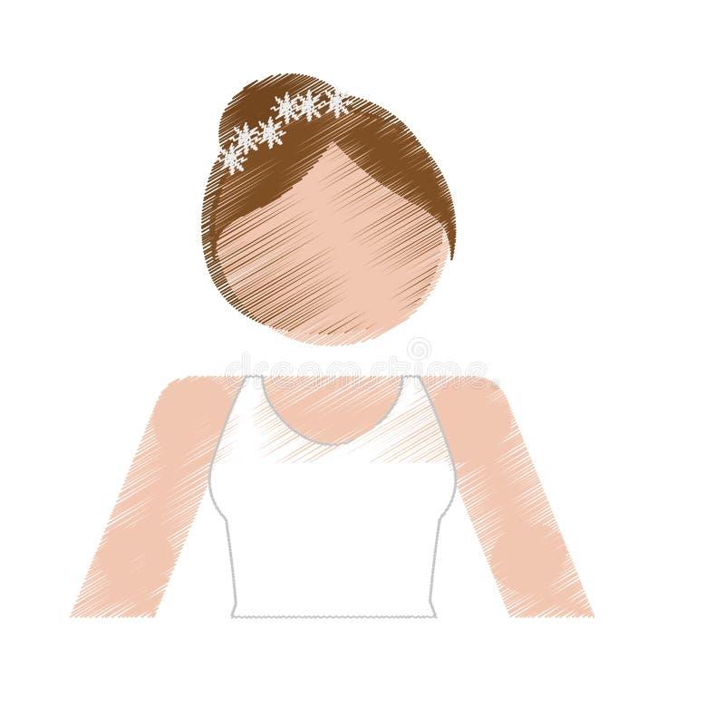 Download Значок женщины шаржа иллюстрация вектора. иллюстрации насчитывающей вскользь - 81802097