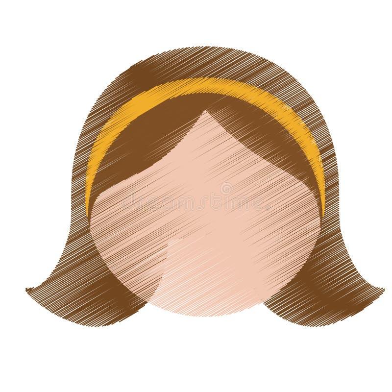 Download Значок женщины шаржа иллюстрация вектора. иллюстрации насчитывающей естественно - 81802161