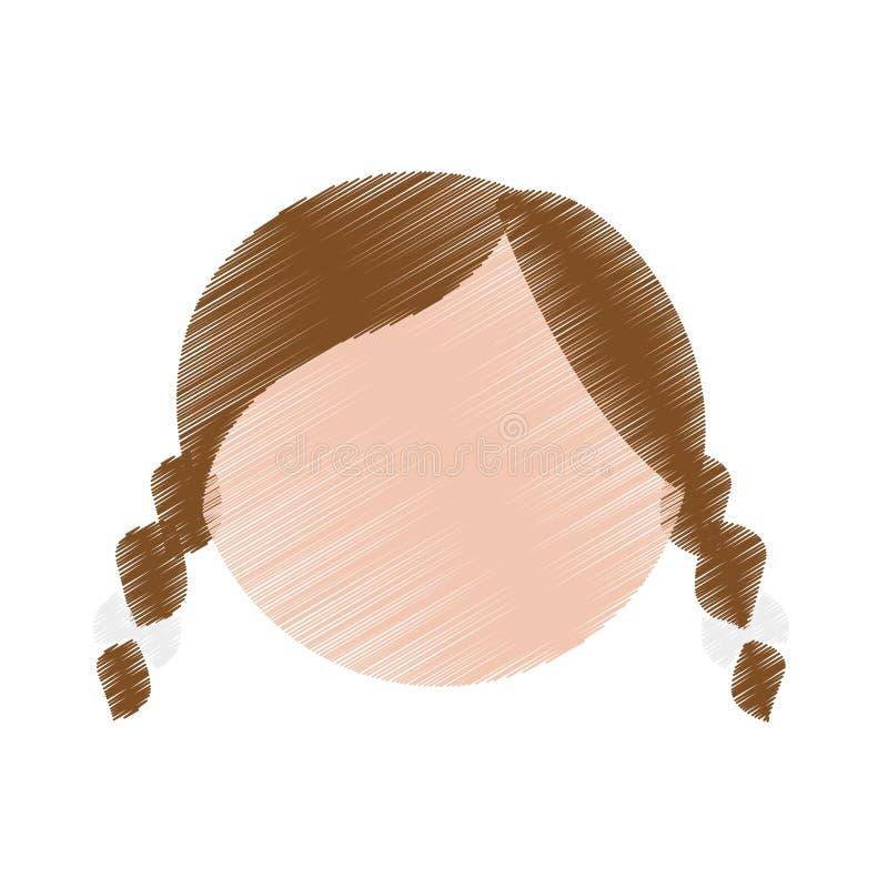 Download Значок женщины шаржа иллюстрация вектора. иллюстрации насчитывающей довольно - 81802200