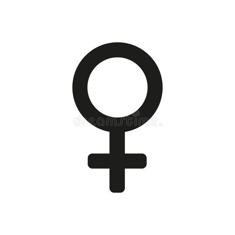 Значок женщин цифрово произведенный женщиной символ изображения плоско иллюстрация вектора