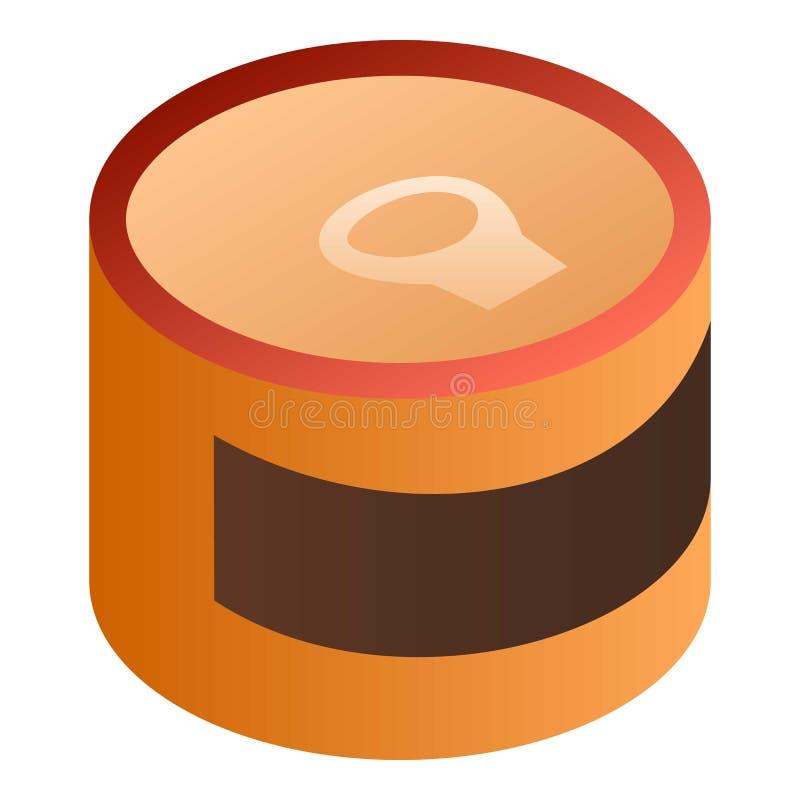 Значок жестяной коробки Брауна, равновеликий стиль бесплатная иллюстрация