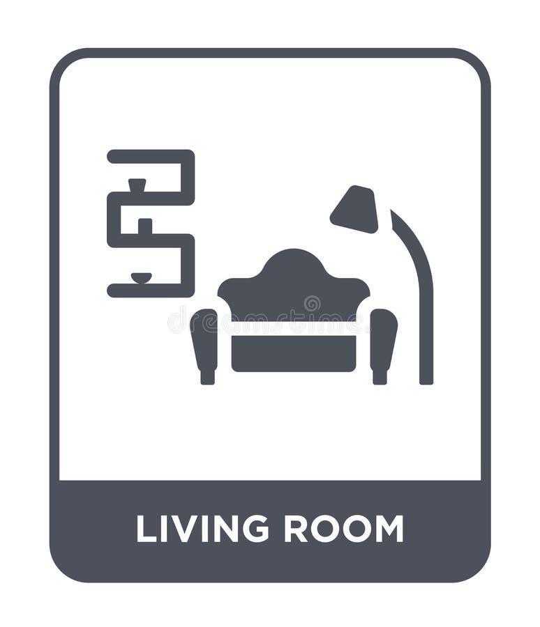 значок живущей комнаты в ультрамодном стиле дизайна значок живущей комнаты изолированный на белой предпосылке значок вектора живу иллюстрация штока