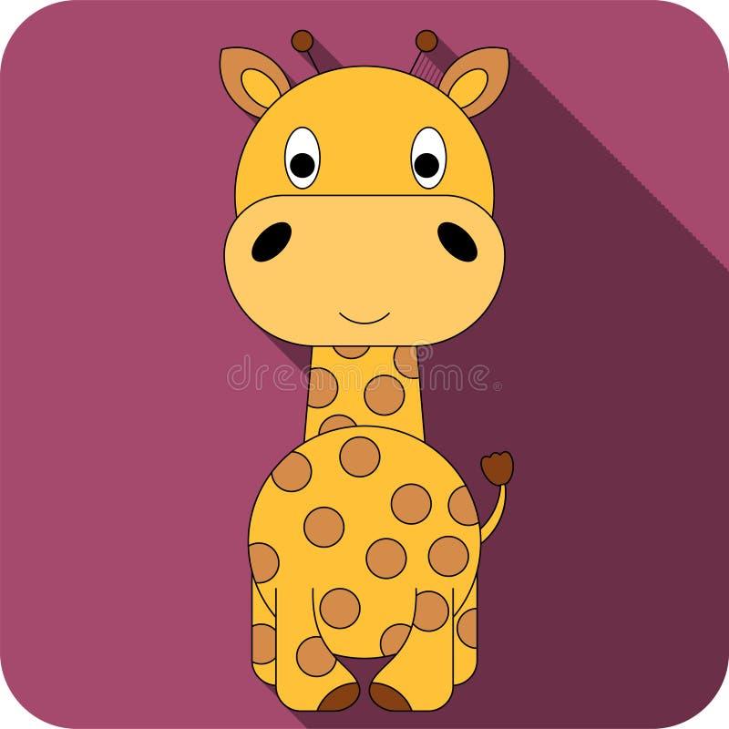 Значок жирафа вектора плоский стоковая фотография