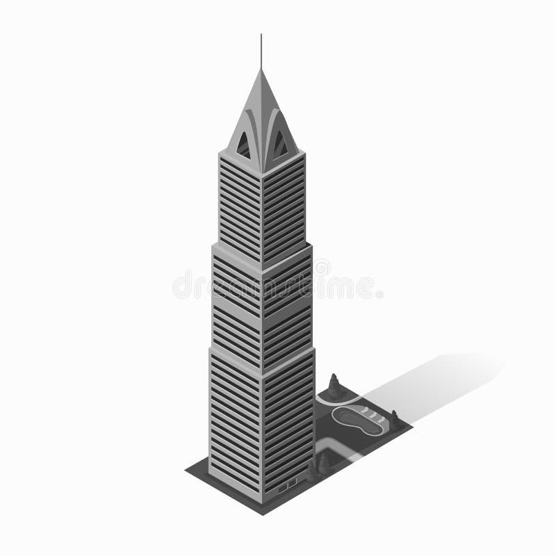 Значок жилищного строительства небоскребов иллюстрация штока