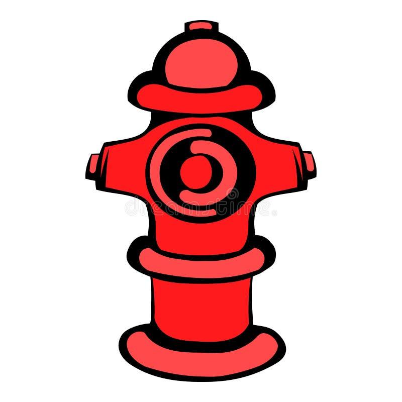 Значок жидкостного огнетушителя, шарж значка иллюстрация штока