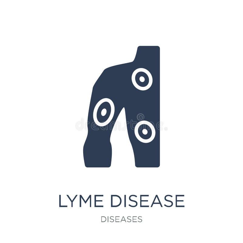 Значок заболеванием Lyme Ультрамодный плоский значок заболеванием Lyme вектора на белизне бесплатная иллюстрация