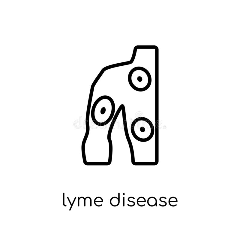 Значок заболеванием Lyme  иллюстрация штока
