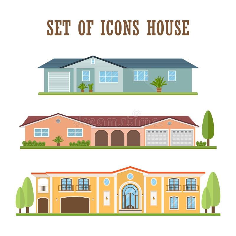Значок загородного дома иллюстрация вектора