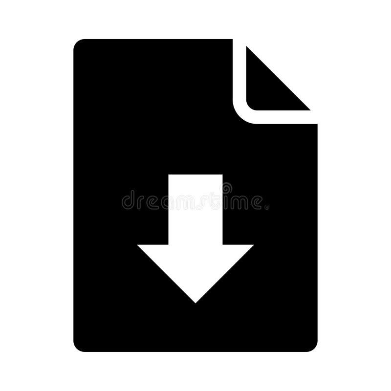 Значок загрузки документа бесплатная иллюстрация