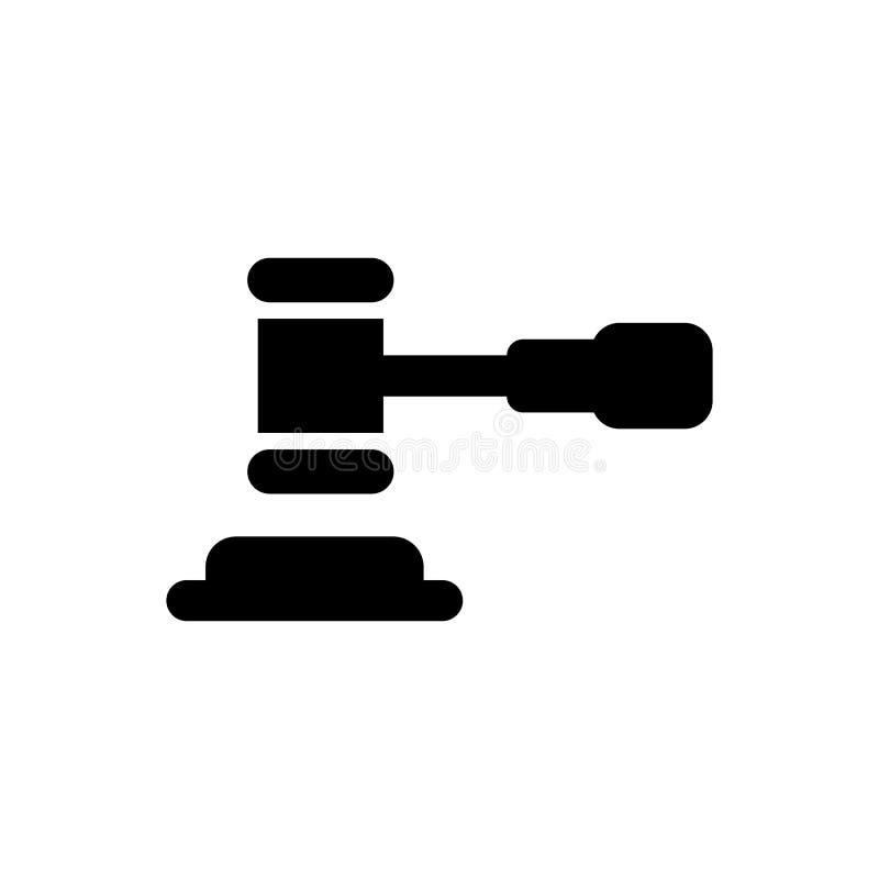 Значок закона, правосудие, суд аукциона иллюстрация штока