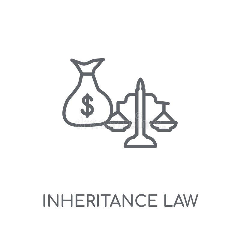 значок закона унаследования линейный Современный логотип закона унаследования плана иллюстрация вектора